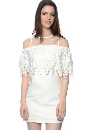 Endless Rose Elbise Beyaz